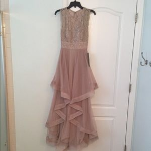 Size 1 Champagne/taupe floor length gown